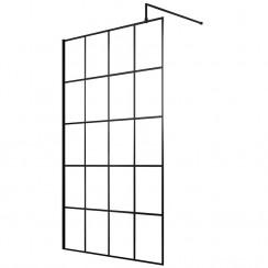 Hudson Reed 1100mm Black Framed Wetroom Screen