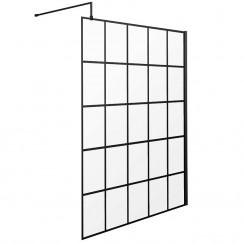 Hudson Reed 1400m Black Framed Wetroom Screen