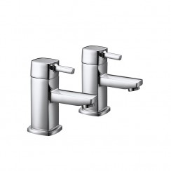 Hampton Bath Pillar Taps - Pair