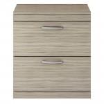 Athena Driftwood 800mm Floor Standing 2 Drawer Cabinet & Worktop