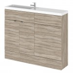 Hudson Reed - Driftwood 1100mm Combination Vanity Unit, WC Unit & Basin - Compact
