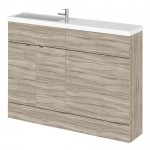 Hudson Reed - Driftwood 1200mm Combination Vanity Unit, WC Unit & Basin - Compact