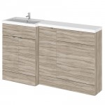 Hudson Reed - Driftwood 1500mm Combination Vanity Unit, WC Unit & L Shaped Basin - Full Depth - L H