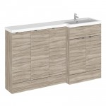 Hudson Reed - Driftwood 1500mm Combination Vanity Unit, WC Unit & L Shaped Basin - Full Depth - R H