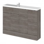 Hudson Reed - Grey Avola 1200mm Combination Vanity Unit, WC Unit & Basin - Compact