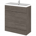 Hudson Reed - Grey Avola 800mm Combination Vanity Unit & Basin - Full Depth