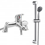 Eon Single Lever Deck Mounted Bath Shower Mixer Tap & Rail Kit