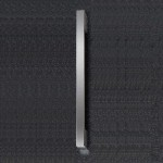 Chrome Rounded 215 x 30mm Handle