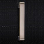 Brushed Nickel D 25mm Thick Handle 202 x 32mm