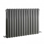 Salvia Double Panel Designer Radiator - Anthracite - 635 x 863mm