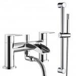 Malibu Bath Shower Mixer Tap & Rail Kit