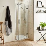 Pacific 700mm Shower Enclosure Hinged Door