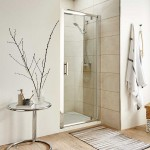 Pacific 900mm Shower Enclosure Pivot Door
