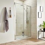 Pacific 1200mm Shower Enclosure Single Sliding Door