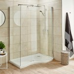 1400 x 90mm Pacific Curved Walk-In Shower Enclosure Right Hand