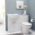 Saturn Toilet and Round Basin Unit High Gloss White
