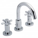 Tec Crosshead 3 Tap Hole Basin Mixer Tap