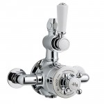 Hudson Reed  Topaz White Twin Thermostatic Exposed Shower Valve