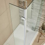 Wetroom Hinged Return Screen 300 x 1950mm