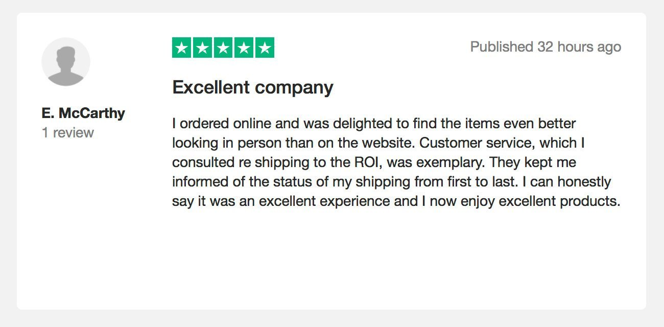 5 Five Star Trustpilot Review